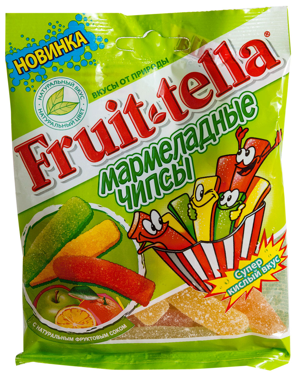 Fruittella Чипсы жевательный мармелад, 70 г бумба балтика жевательный мармелад 108 г