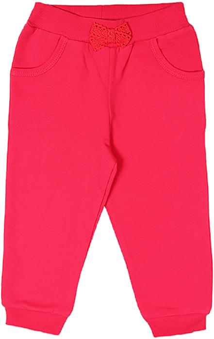 Брюки для девочки Cherubino, цвет: розовый. CWB 7529 (133). Размер 80CWB 7529 (133)Брючки для девочки с начесом Cherubino изготовлены из натурального хлопка. По низу брючины дополнены манжетами.