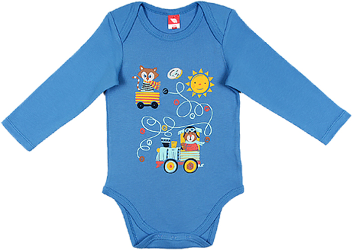 Боди для мальчика Cherubino, цвет: голубой. CWN 4140 (130). Размер 80 красное боди emma xxl 3xl