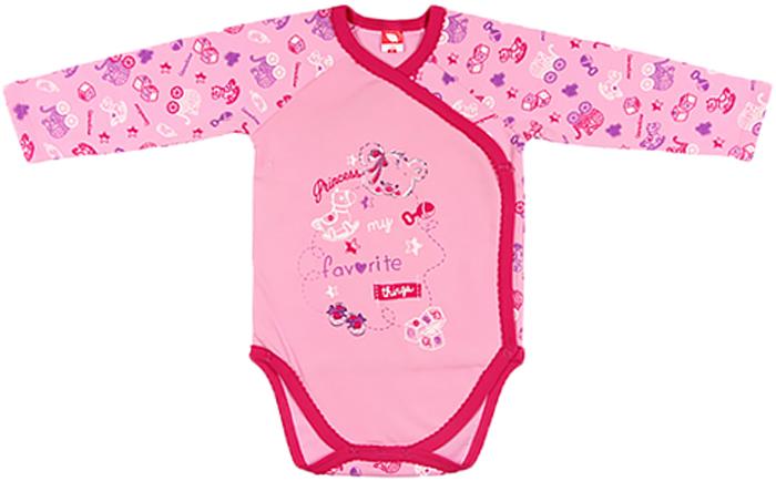 Боди для девочки Cherubino, цвет: розовый. CWN 4135 (126). Размер 56CWN 4135 (126)Боди для девочки Cherubino полностью распашное, с длинным рукавом, легко одевается благодаря кнопочкам. Выполнен из легкой хлопковой ткани, мягкий и не вызывает раздражения нежной кожи малыша.
