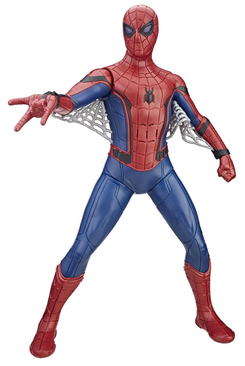 Spider-Man Фигурка функциональная Человек-Паук машинки hti паровозик roadsterz синий с вагоном звуковыми и световыми эффектами