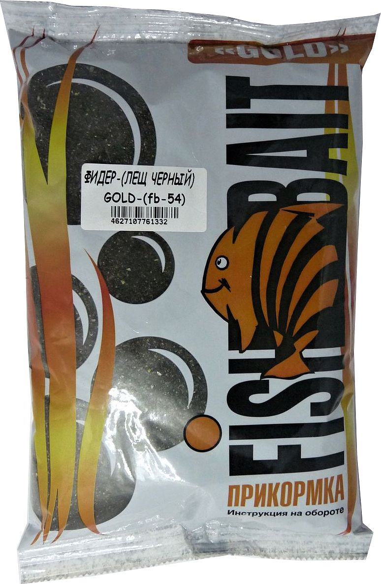 Прикормка для рыб FishBait Gold Фидер Лещ черный, летняя, 1 кг
