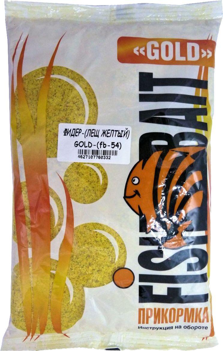 Прикормка для рыб FishBait Gold Фидер Лещ желтый, 1 кг