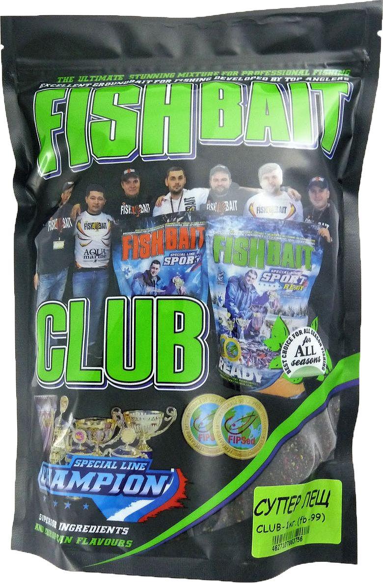 Прикормка для рыб FishBait Club Супер Лещ, летняя, 1 кг