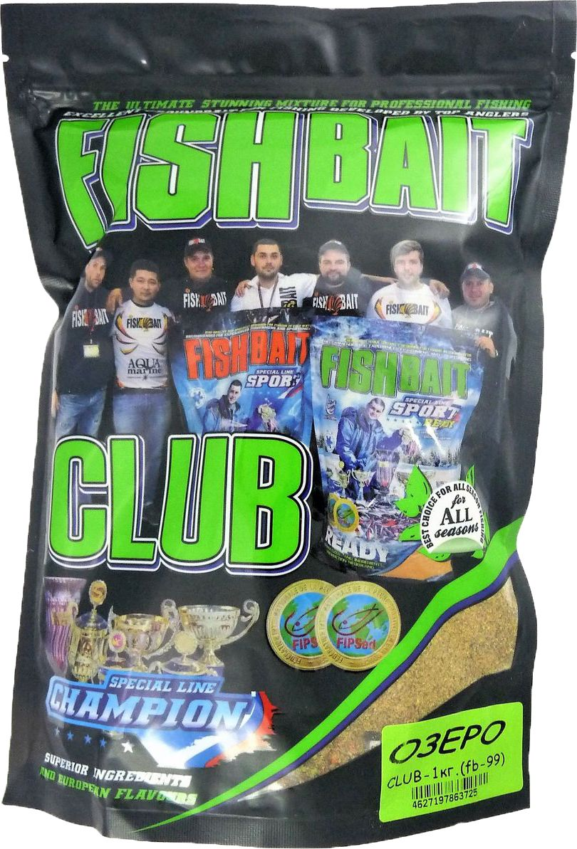 Прикормка для рыб FishBait Club Озеро, летняя, 1 кг