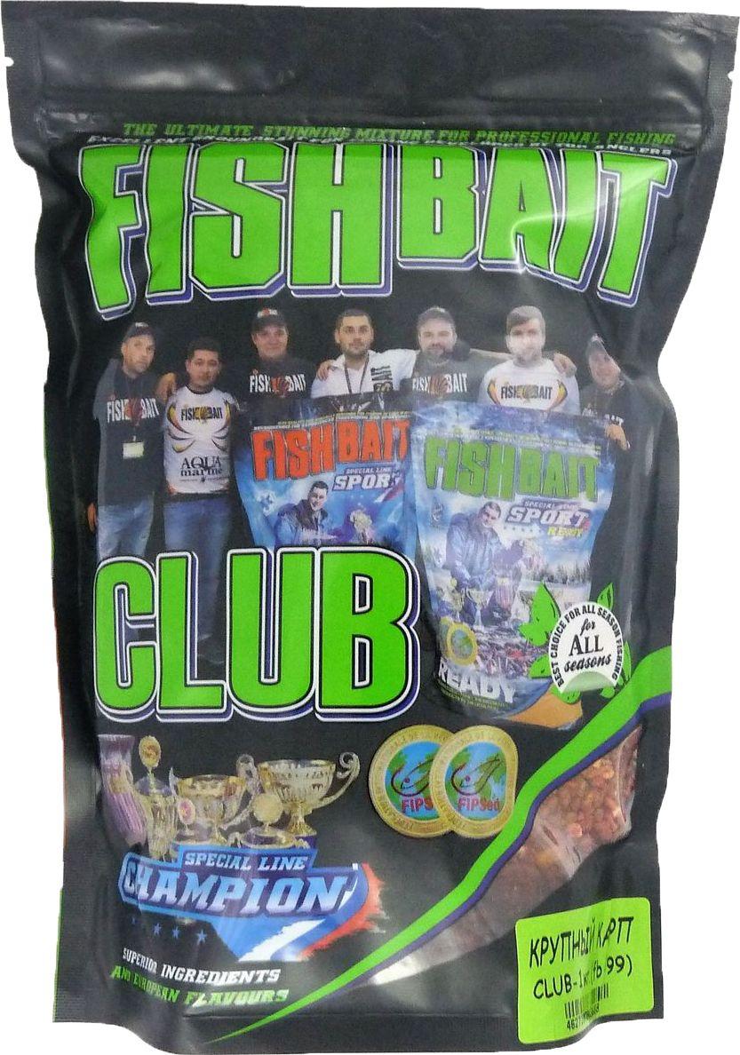 Прикормка для рыб FishBait Club Крупный Карп, летняя, 1 кг