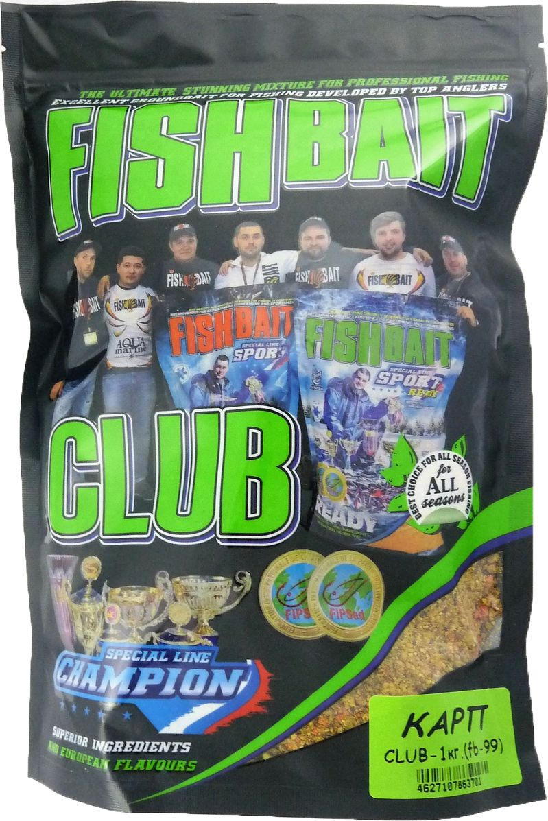 Прикормка для рыб FishBait Club Карп, летняя, 1 кг