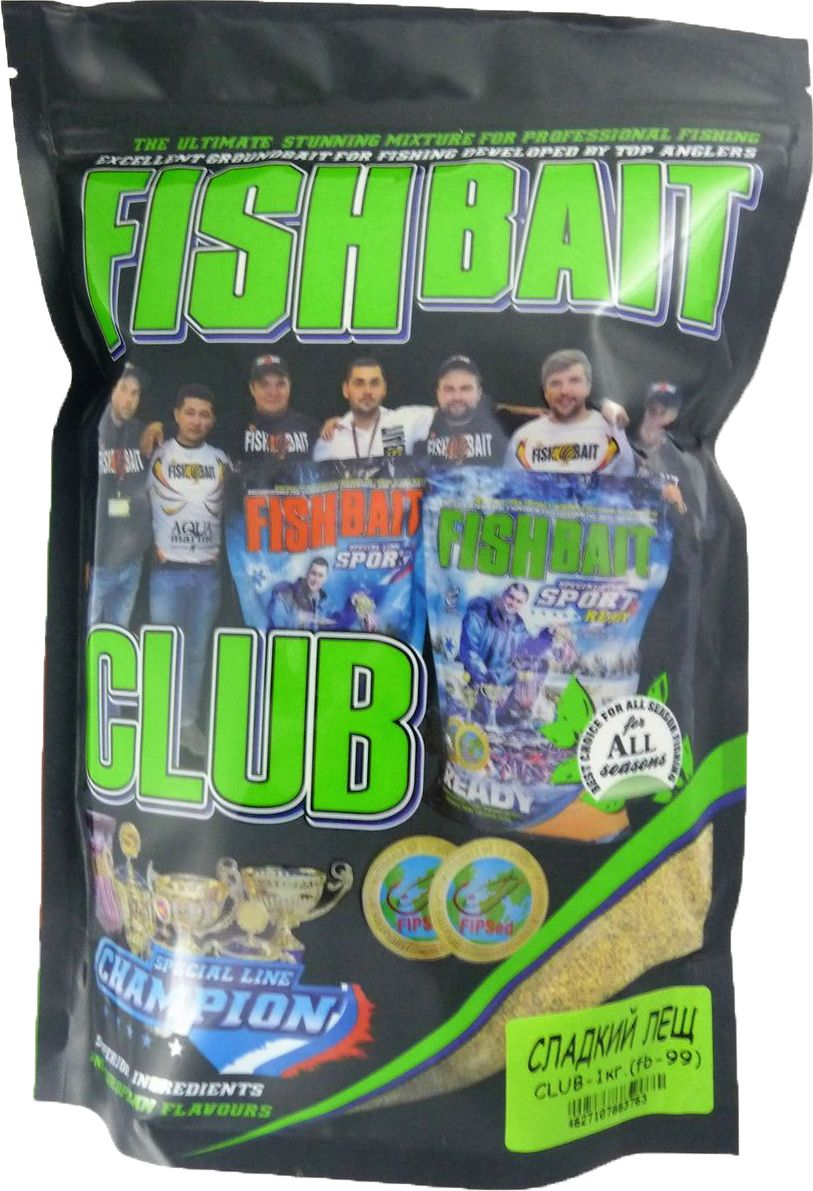 Прикормка для рыб FishBait Club Сладкий Лещ, летняя, 1 кг