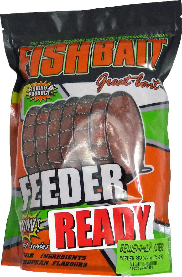 Прикормка для рыб FishBait Feeder Ready Бешенный Клев, летняя, 1 кг