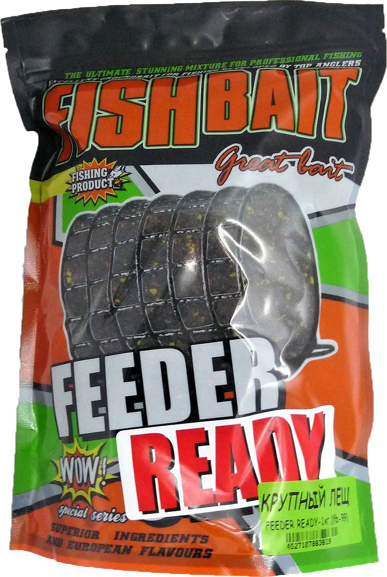 Прикормка для рыб FishBait Feeder Ready Крупный Лещ, летняя, 1 кгfbu-60711Прикормка для рыб FishBait из самых высококачественного ингредиентов. Рекомендована для опытных рыболов. Серия увлажненных, полностью готовых к применению прикормок самого высокого класса для ловли с кормушкой, с высоким содержанием вкусо-ароматических компонентов. Прикормки серии  Feeder Ready отлично работают как самостоятельно, так и в сочетании с другими смесями и добавками. Товар сертифицирован.