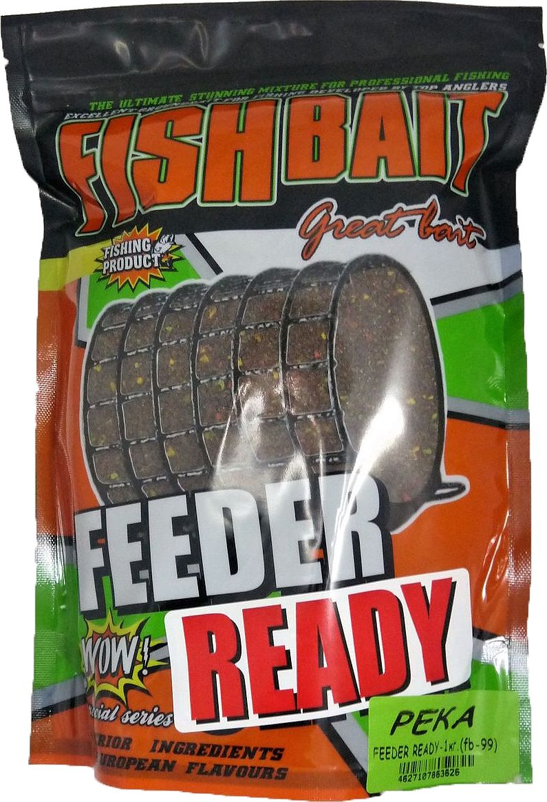 Прикормка для рыб FishBait Feeder Ready Река, летняя, 1 кг yamaha pneumatic cl 16mm feeder kw1 m3200 10x feeder for smt chip mounter pick and place machine spare parts