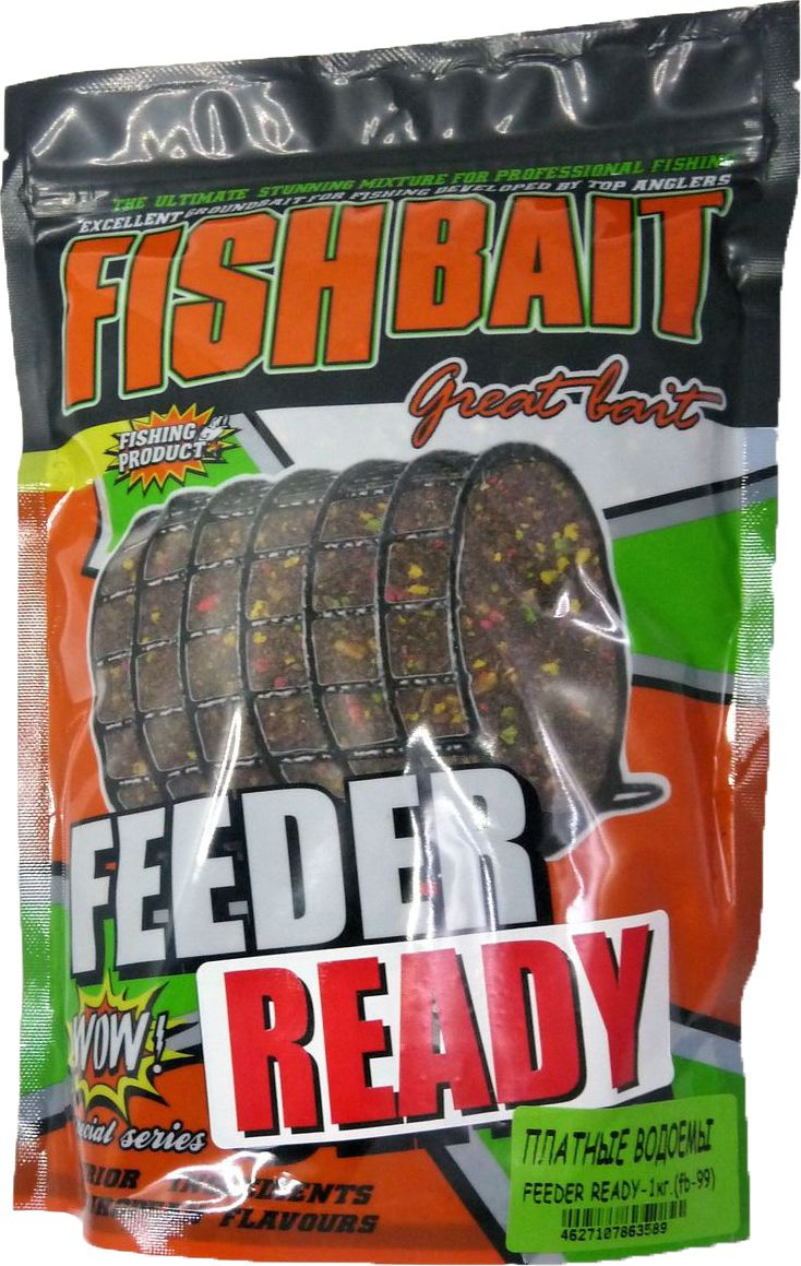 Прикормка для рыб FishBait Feeder Ready Платные водоемы, летняя, 1 кгСпр50/ШОКПрикормка для рыб FishBait из самых высококачественного ингредиентов.Рекомендована для опытных рыболов. Серия увлажненных, полностью готовых к применению прикормок самого высокого класса для ловли с кормушкой, с высоким содержанием вкусо-ароматических компонентов.Прикормки серии  Feeder Ready отлично работают как самостоятельно, так и в сочетании с другими смесями и добавками. Товар сертифицирован.