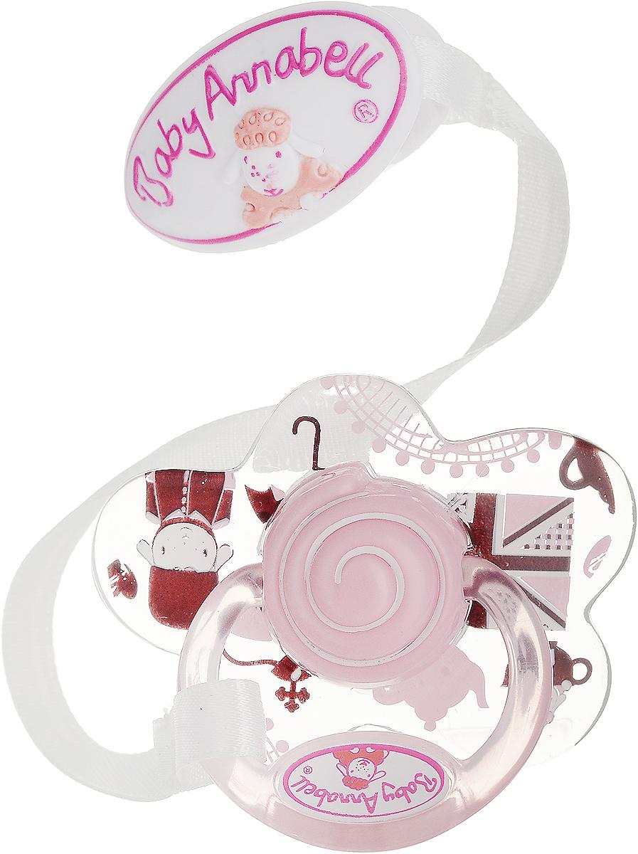 Baby Annabell Пустышка для куклы цвет розовый черный baby annabell аксессуар для кукол памперсы