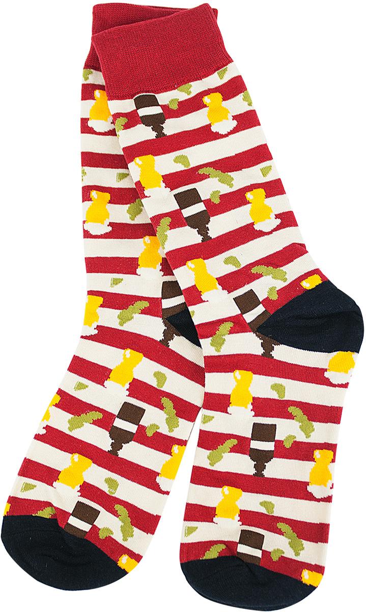 Носки женские Kawaii Factory Полосатый принт, цвет: красный, белый, черный. 2006000072946. Размер 35/402006000072946Носки Kawaii Factory изготовлены из качественного материала на основе хлопка. Модель имеет мягкую эластичную резинку. Носки хорошо держат форму и обладают повышенной воздухопроницаемостью.