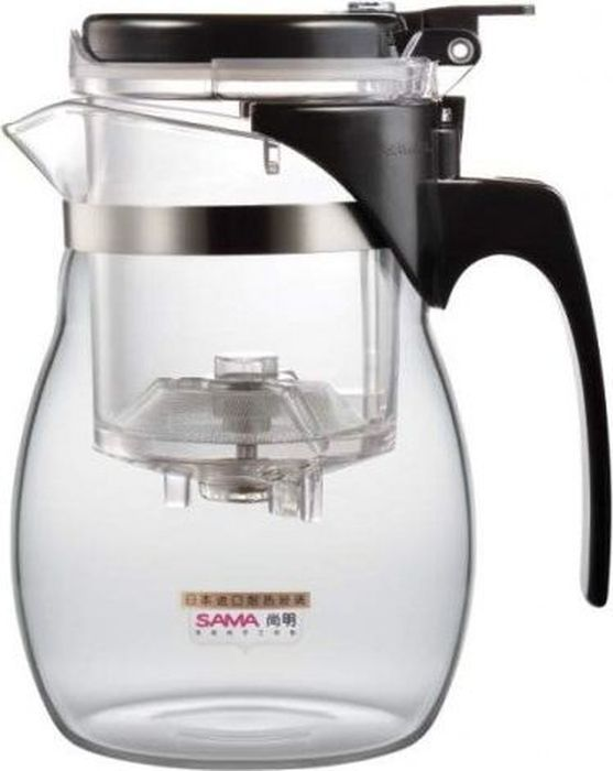 """Чайник заварочный (гунфу) Samadoyo """"А-16"""" - простой и в то же время профессиональный инструмент для того, чтобы заварить ваш любимый чай. Уникальный механизм слива чайного настоя позволяет вам получить напиток любой степени крепости. Такая технология заваривания чая повторяет основной смысл чайной церемонии - получить напиток максимального качества. При этом имеет два существенных преимущества - мобильность и простоту. Способ применения: засыпьте ваш любимый чай в колбу и залейте горячую воду. Для слива чайного настоя из колбы в чайник просто нажмите кнопку.Чайник можно не только комфортно использовать на работе или в офисе, но и взять с собой в путешествие, чтобы ваш любимый чай был всегда с вами! Чайник выполнен из высококачественного боросиликатного стекла и выдерживает температуры до 180 С. Заварочная колба выполнена из специального пищевого пластика, имеет металлическую сеточку-фильтр, предотвращающую попадание чаинок в настой, а специальный запатентованный клапан сливает все без остатка в чайник. Несколько преимуществ именно этого чайника: - Заваренный чай не находится долго в горячей воде, а значит, сохраняет свои свойства.- Кнопка слива позволяет получить напиток  любой степени крепости.- Чайный настой всегда однородный и всегда вкусный.- В таком чайнике хороший чай заваривается до 15 раз.- Чайник легко моется и долго остается исключительно чистым.- Чайник очень легкий - его можно брать в поездки.Объем чайника: 600 мл.Объем колбы: 150 мл.Диаметр чайника по верхнему краю: 7,5 см.Диаметр дна чайника: 7 см.Высота чайника: 15 см.Размер колбы: 7,5 х 7,5 х 10,5 см."""
