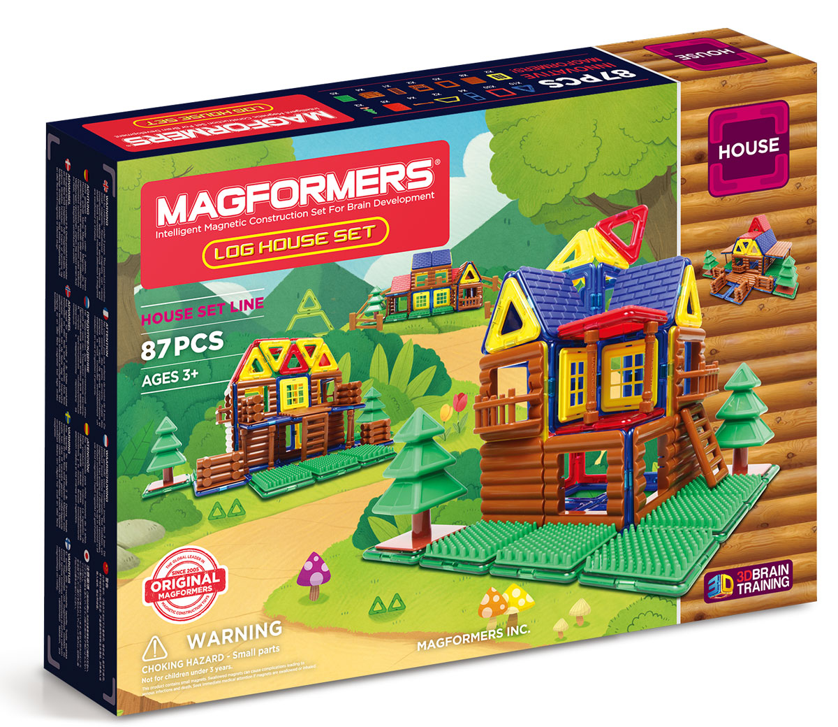 Magformers Магнитный конструктор Log House Set