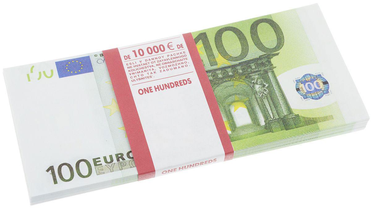 Эврика Блокнот Пачка 100 евро95523Небольшой блокнот Эврика с изображением купюр поможет сохранить ценные сведения и станет талисманом денежной удачи владельца. Страницы линованные, цветные с картинкой.