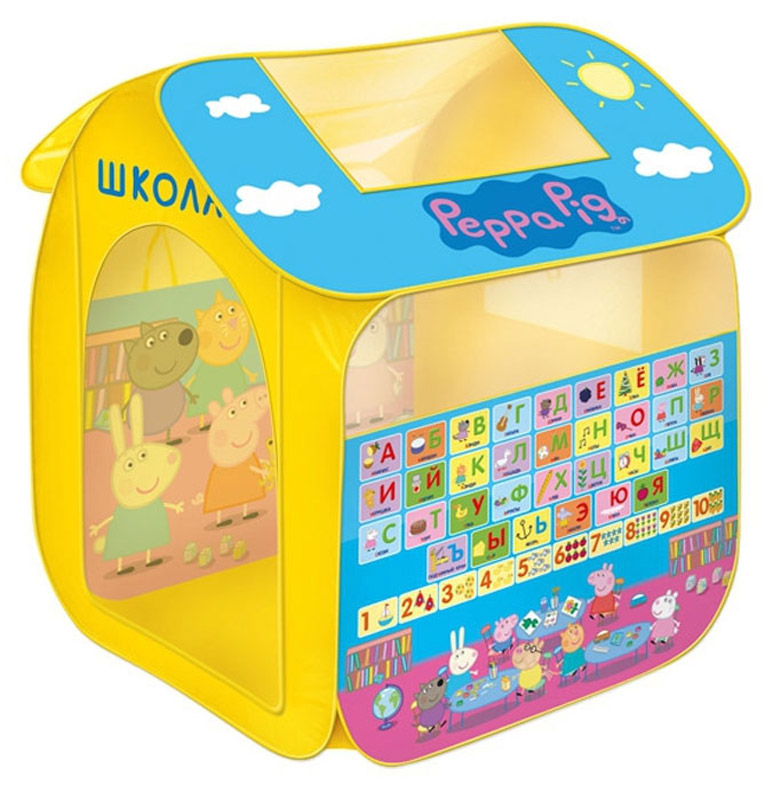Peppa Pig Палатка для игр Учим азбуку с Пеппой