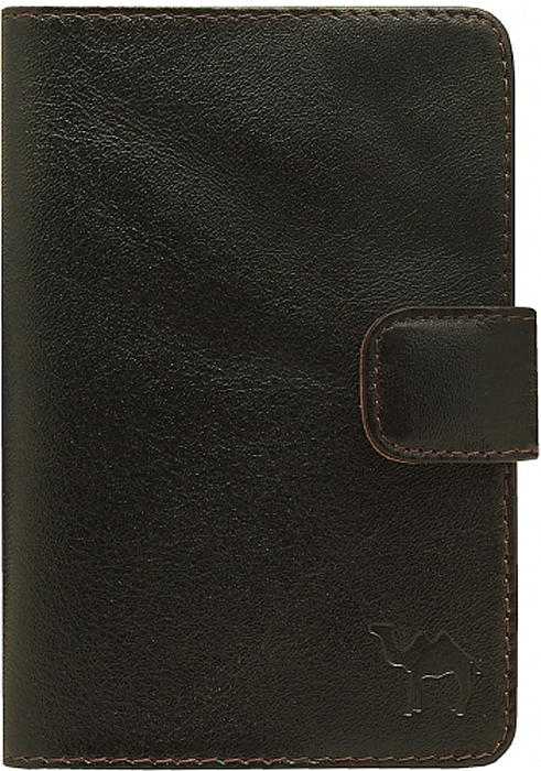 Обложка для паспорта мужская Dimanche Сахара, цвет: черный. 760760_черныйОбложка для документов Dimanche Сахара выполнена из натуральной кожи. На внутреннем развороте 5 прорезных кармашков для визиток/кредиток. Закрывается хлястиком на кнопку. Упакована в картонную подарочную коробку.