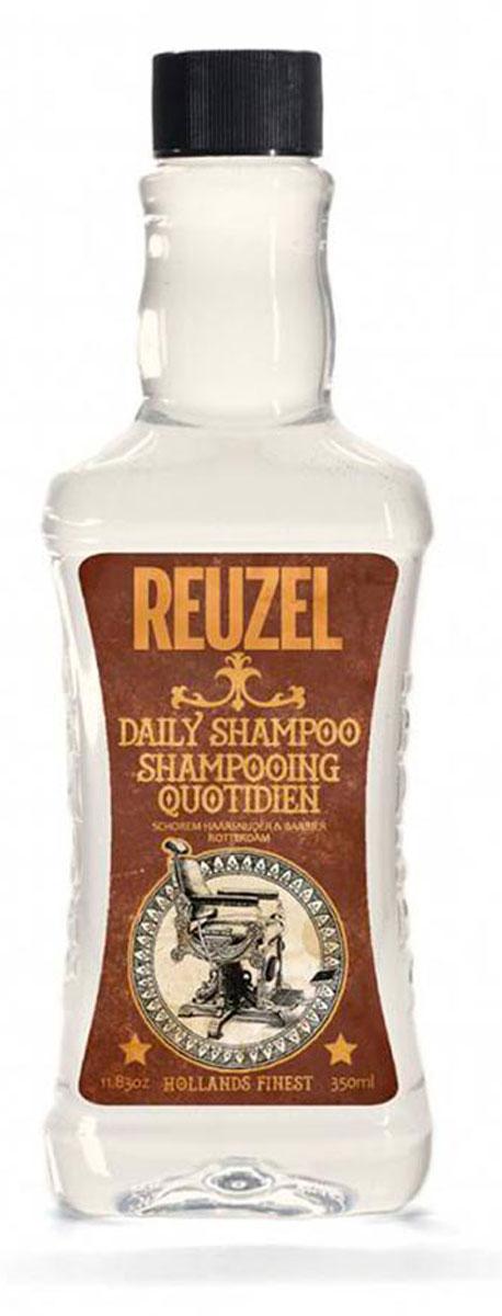 Reuzel ежедневный шампунь для волос 350мл4650001791429Концентрированный шампунь с тонизирующим настоем гамамелиса, листьев крапивы, розмарина и корня хвоща обеспечивает эффективное очищение и увлажнение волос и кожи головы. Охлаждает и тонизирует, стимулирует микроциркуляцию кожи головы.Подходит для всех типов волос.Предназначен для ежедневного использования.