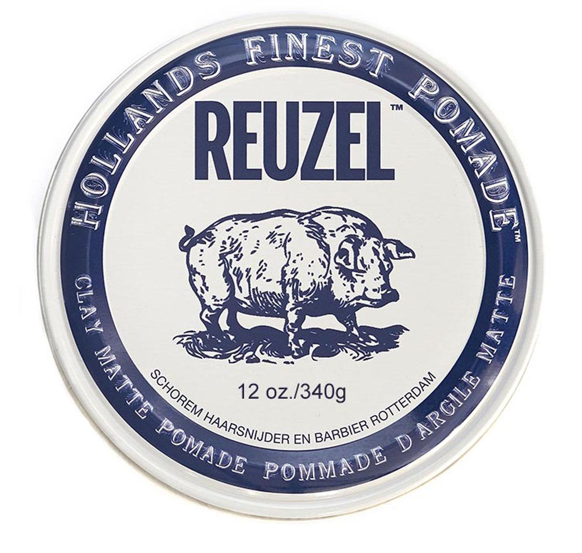 Reuzel матовая глина для укладки волос, белая банка 340 гр lock stock & barrel глина для моделирования с матовым эффектом 85 карат 85 karats shaping clay 100 гр