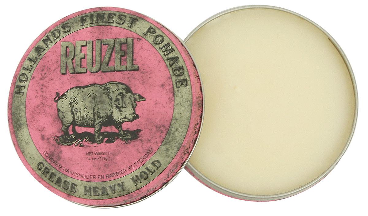 Reuzel помада для укладки волос, розовая банка 113грREU003Помада REUZEL GREASE розовая: жёсткая фиксацияReuzel Grease в розовой банке - это помада на основе воска и масла безупречного качества. Даёт мягкое среднее сияние и сверхсильную фиксацию. Reuzel Grease Pomade идеально подходит как для классики: помпадур, квифф, так и для новых смелых форм. Помада подходит для нормальных и толстых волос, обеспечивает сверхжёсткую фиксацию, позволяя придавать причёске любую форму. Розовый REUZEL в духе классических помад пахнет яблоком и сальсой.- Сверхсильная фиксация как у геля- Средний блеск- На основе воска и масла безупречного качества- Справляется с самыми кудрявыми, плотными и непослушными волосами- Превосходная прическа весь день