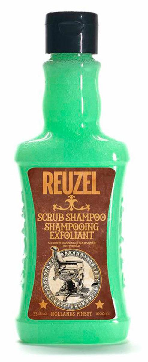 Reuzel шампунь-скраб для волос 1000млREU022Очищающий шампунь с эффектом скраба для кожи головы. Уникальная комбинация очищающих и отшелушивающих компонентов с тонизирующим настоем гамамелиса, листьев крапивы, розмарина и корня хвоща эффективно очищает волосы и кожу головы от стайлинга, избытка кожного жира и других загрязнений, бережно относясь к волосам и коже головы. Позволяет долго сохранять ощущение свежести.