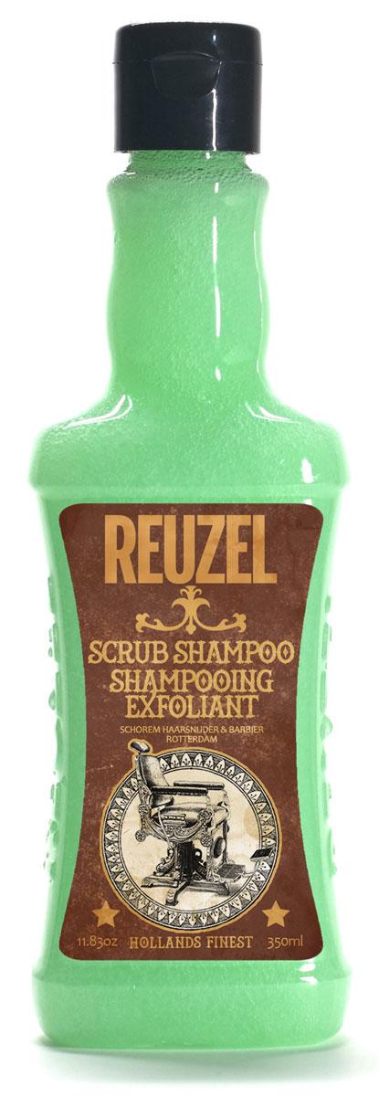 Reuzel шампунь-скраб для волос 350млREU021Очищающий шампунь с эффектом скраба для кожи головы. Уникальная комбинация очищающих и отшелушивающих компонентов с тонизирующим настоем гамамелиса, листьев крапивы, розмарина и корня хвоща эффективно очищает волосы и кожу головы от стайлинга, избытка кожного жира и других загрязнений, бережно относясь к волосам и коже головы. Позволяет долго сохранять ощущение свежести.