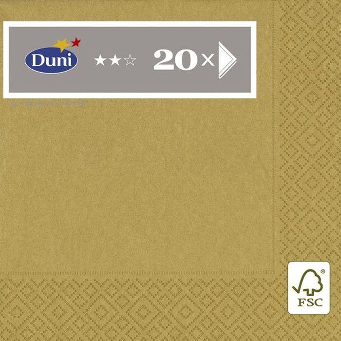Салфетки бумажные Duni, 3-слойные, цвет: бежевый, 33 х 33 см. 105804 салфетки бумажные круглые 3 слойные 12 шт ассорти