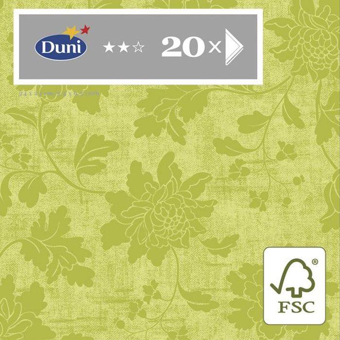 Салфетки бумажные Duni Венеция, 3-слойные, 24 х 24 см, 20 шт159962Трехслойные бумажные салфетки изготовлены из экологически чистого, высококачественного сырья - 100% целлюлозы. Салфетки выполнены в оригинальном и современном стиле, прекрасно сочетаются с любым интерьером и всегда будут прекрасным и незаменимым украшением стола.