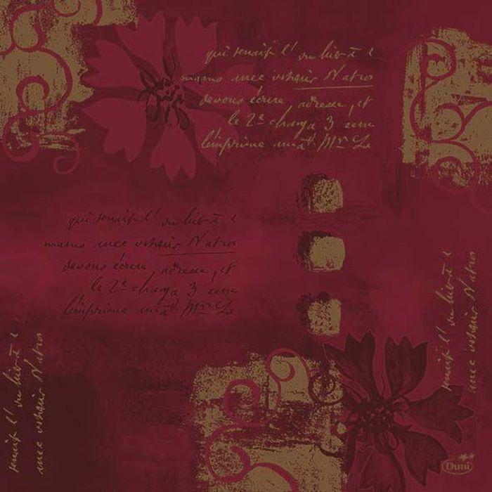Салфетки бумажные Duni, 3-слойные, цвет: бордовый, 33 х 33 см. 161308161308Многослойные бумажные салфетки изготовлены из экологически чистого, высококачественного сырья - 100% целлюлозы. Салфетки выполнены в оригинальном и современном стиле, прекрасно сочетаются с любым интерьером и всегда будут прекрасным и незаменимым украшением стола.