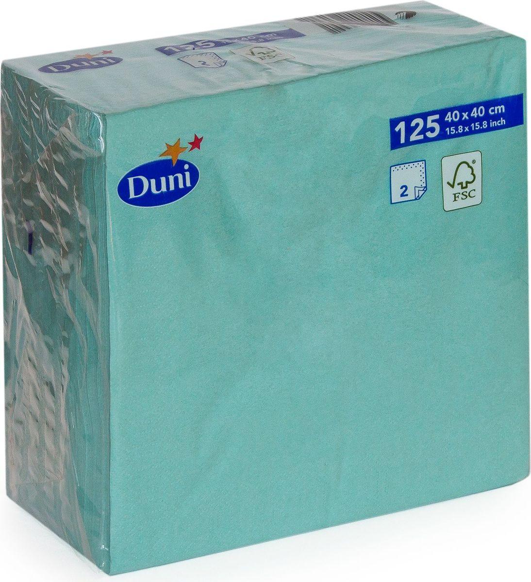 Салфетки бумажные Duni, 2-слойные, цвет: голубой, 40 см161399Многослойные бумажные салфетки изготовлены из экологически чистого, высококачественного сырья - 100% целлюлозы. Салфетки выполнены в оригинальном и современном стиле, прекрасно сочетаются с любым интерьером и всегда будут прекрасным и незаменимым украшением стола.