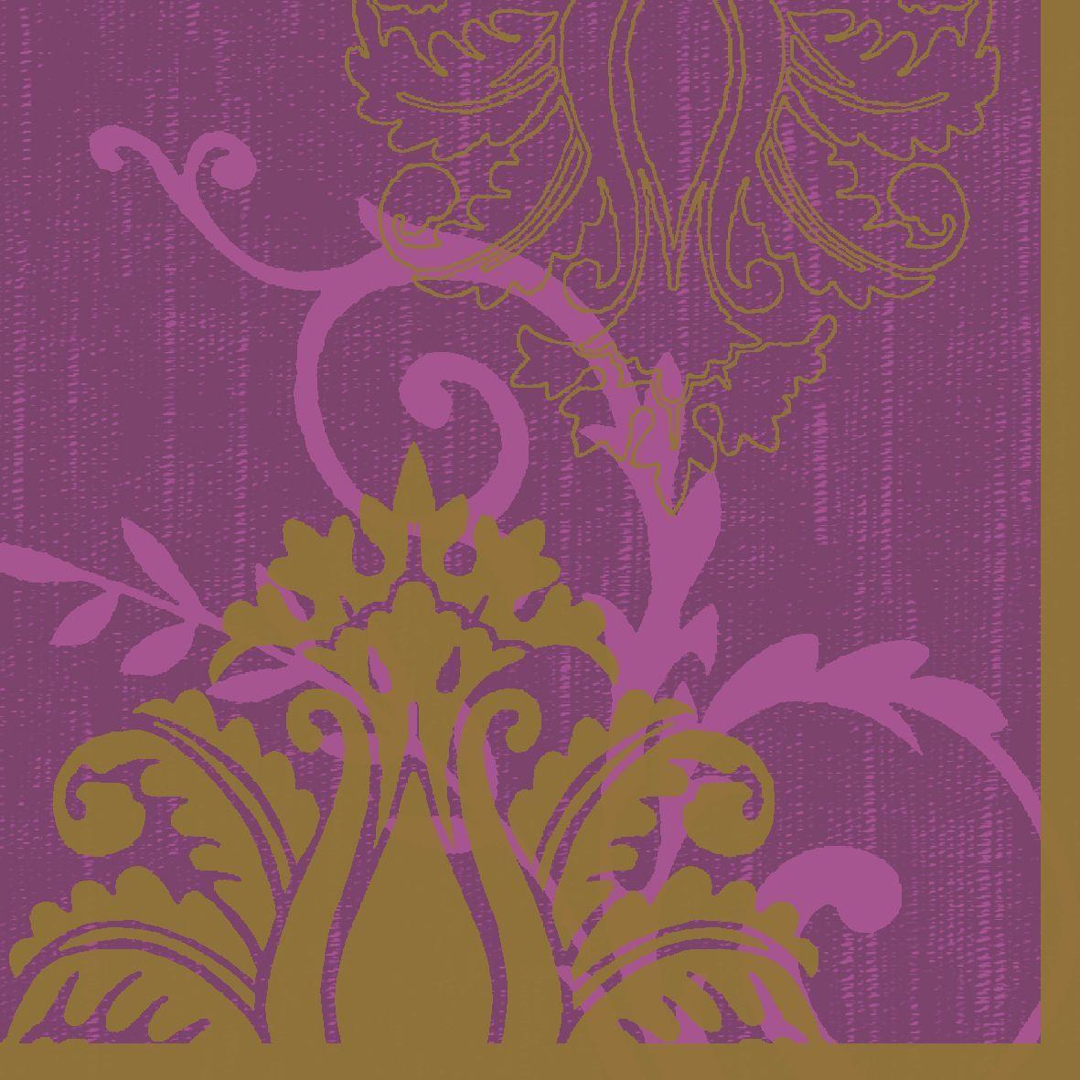 Салфетки бумажные Duni, 3-слойные, цвет: фиолетовый, 33 х 33 см, 20 шт салфетки бумажные круглые 3 слойные 12 шт ассорти