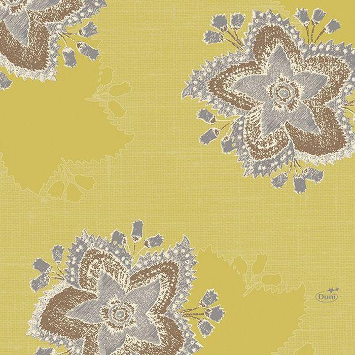 Салфетки бумажные  Duni , 3-слойные, цвет: желтый, 33 х 33 см. 163260 - Одноразовая посуда