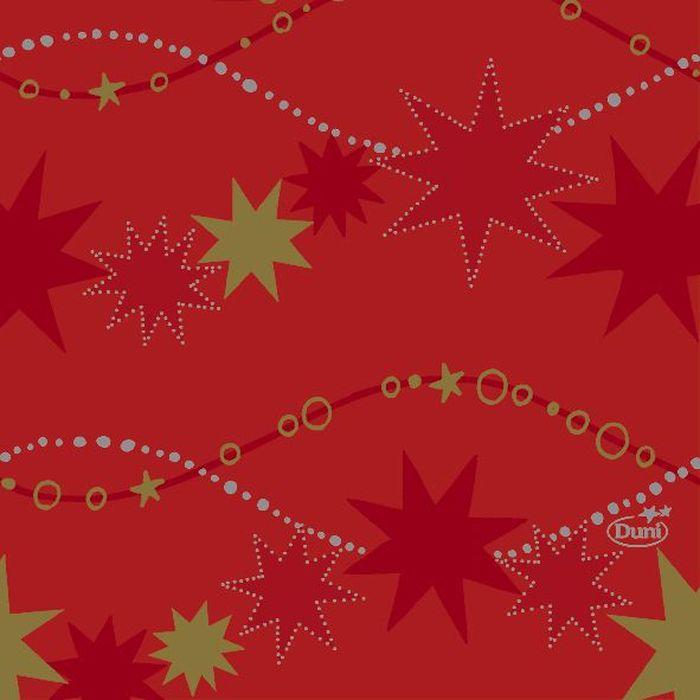 Салфетки бумажные Duni, 3-слойные, цвет: красный, 24 х 24 см, 20 шт. 164164 бумажные салфетки duni салфетки бумажные 3 слойные зеленая 33х33 см 20 шт