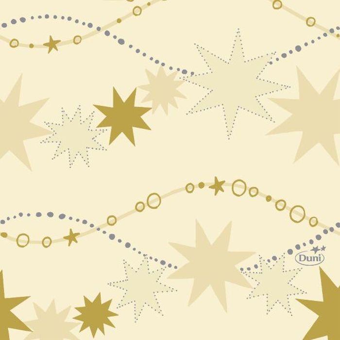Салфетки бумажные Duni, 3-слойные, цвет: слоновая кость, 24 х 24 см, 20 шт бумажные салфетки duni салфетки бумажные 3 слойные зеленая 33х33 см 20 шт