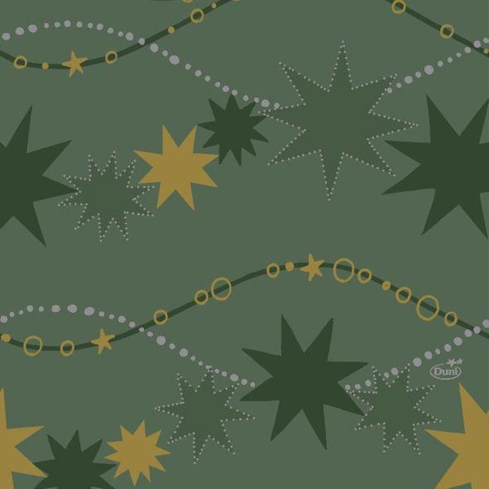 Салфетки бумажные  Duni , 3-слойные, цвет: зеленый, 33 х 33 см. 164206 - Одноразовая посуда