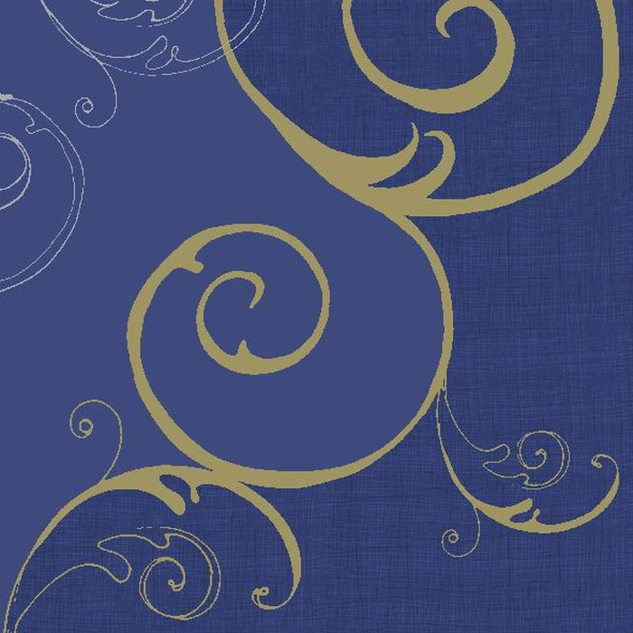 Салфетки бумажные Duni, 3-слойные, цвет: синий, 33 х 33 см салфетки duni салфетки d lin 40cm brilliance white