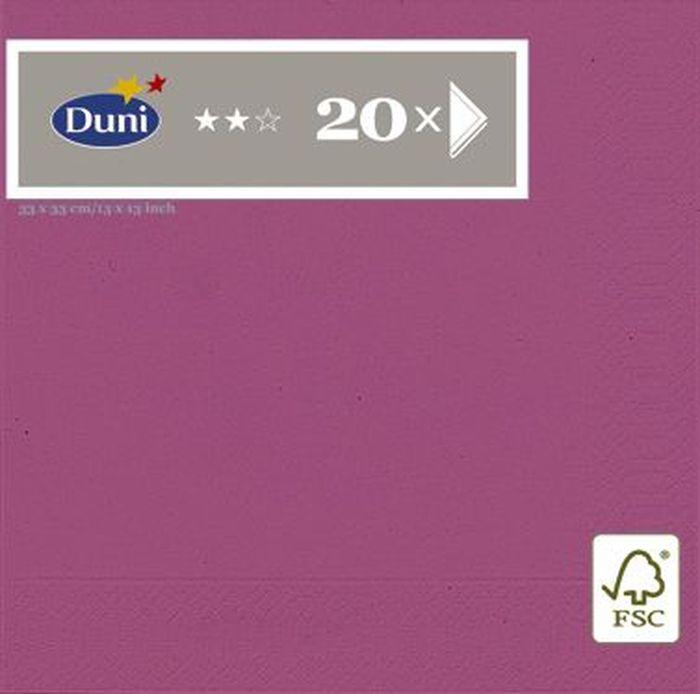 Салфетки бумажные Duni, 3-слойные, цвет: розовый, 33 х 33 см, 20 шт бумажные салфетки duni салфетки бумажные 3 слойные зеленая 33х33 см 20 шт