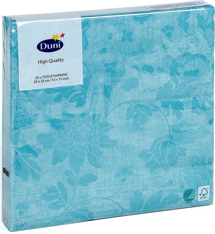 Салфетки бумажные Duni, 3-слойные, цвет: бирюзовый, 33 х 33 см167220Трехслойные бумажные салфетки изготовлены из экологически чистого, высококачественного сырья - 100% целлюлозы. Салфетки выполнены в оригинальном и современном стиле, прекрасно сочетаются с любым интерьером и всегда будут прекрасным и незаменимым украшением стола.