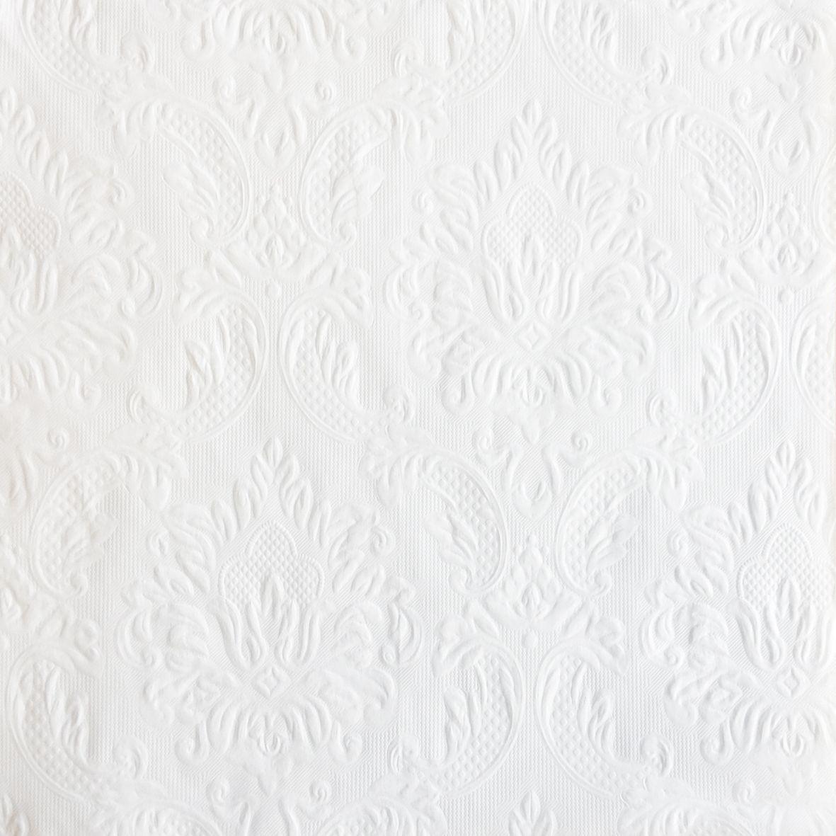 Салфетки бумажные Duni, 3-слойные, с тиснением, цвет: белый, 33 х 33 см, 20 шт170905Трехслойные бумажные салфетки изготовлены из экологически чистого, высококачественного сырья - 100% целлюлозы. Салфетки выполнены в оригинальном и современном стиле, прекрасно сочетаются с любым интерьером и всегда будут прекрасным и незаменимым украшением стола.