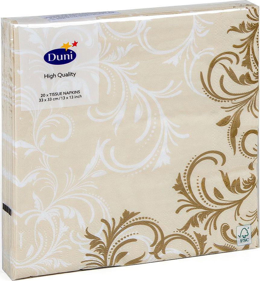 Салфетки бумажные Duni Grace, 3-слойные, цвет: бежевый, 33 х 33 см, 20 шт173265Трехслойные бумажные салфетки Duni Grace изготовлены из экологически чистого, высококачественного сырья - 100% целлюлозы. Они выполнены в оригинальном и современном стиле, прекрасно сочетаются с любым интерьером и всегда будут прекрасным и незаменимым украшением стола.Размер салфеток: 33 х 33 см.