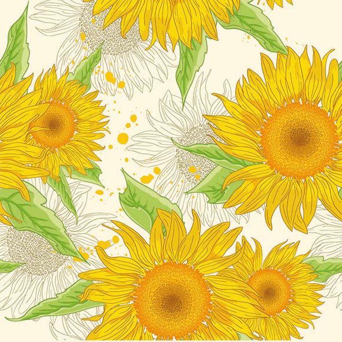 Салфетки бумажные Duni Sun Flower Splash, 3-слойные, 33 х 33 см173375Трехслойные бумажные салфетки изготовлены из экологически чистого, высококачественного сырья - 100% целлюлозы. Салфетки выполнены в оригинальном и современном стиле, прекрасно сочетаются с любым интерьером и всегда будут прекрасным и незаменимым украшением стола.