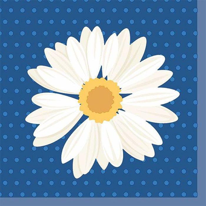 Салфетки бумажные Duni My Daisy, 3-слойные, 24 х 24 см, 20 шт. 173393 бумажные салфетки duni салфетки бумажные 3 слойные зеленая 33х33 см 20 шт