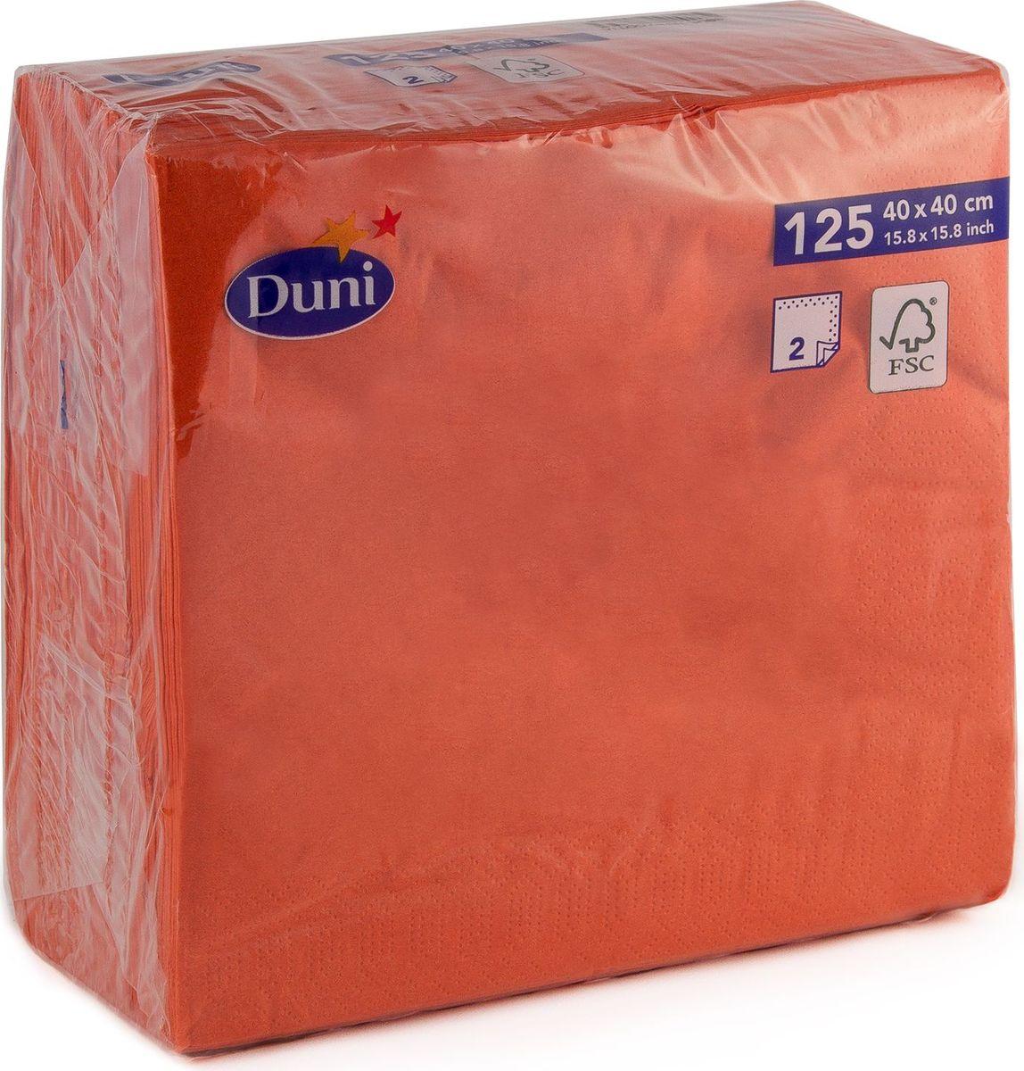 Салфетки бумажные Duni, 2-слойные, цвет: красный, 40 см салфетки бумажные круглые 3 слойные 12 шт ассорти