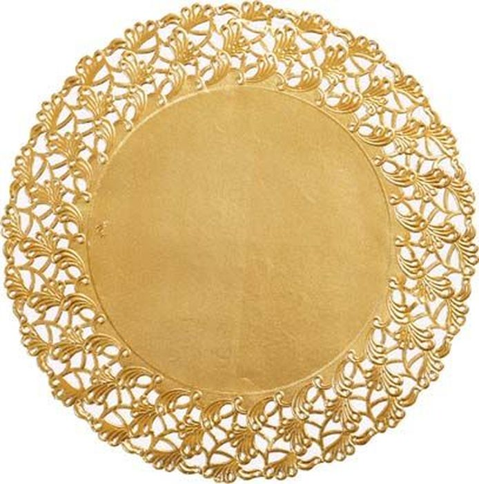 Салфетки бумажные  Duni , кружевные, диаметр 18 см - Одноразовая посуда