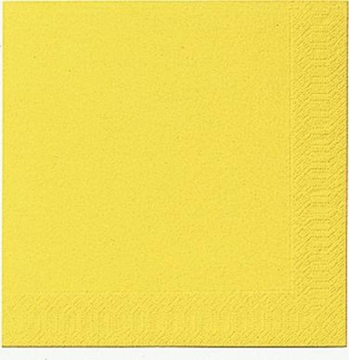 Салфетки бумажные  Duni , 3-слойные, цвет: желтый, 24 х 24 см, 20 шт. 210300 - Одноразовая посуда