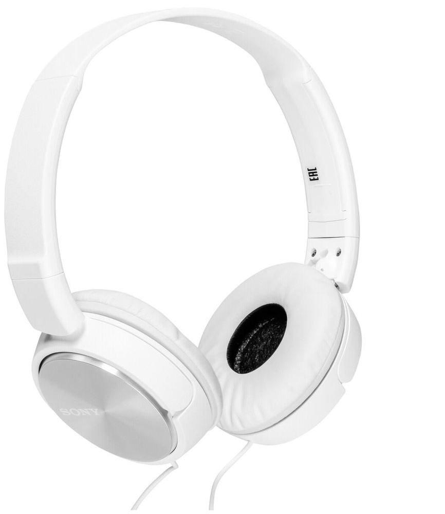 Sony MDR-ZX310, White наушники плеер sony walkman nwz
