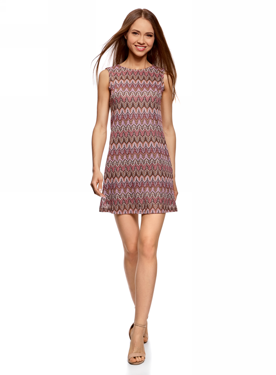 Платье oodji Ultra, цвет: фуксия, бордовый. 14005137/45509/4749E. Размер M (46) пуловеры oodji пуловер