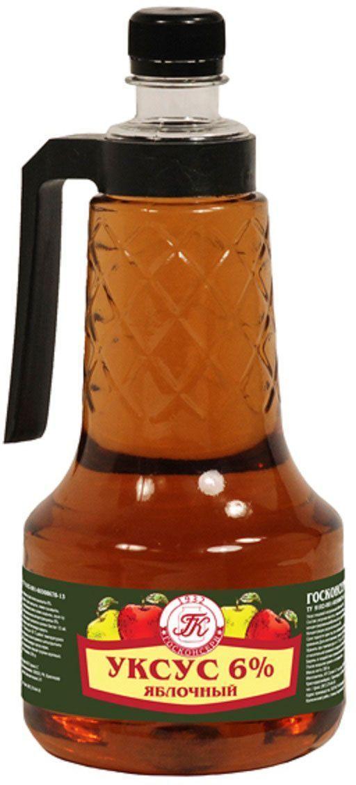 Госконсерв уксус яблочный 6%, 970 г4607116761915Продукт естественной ферментации яблок. Превосходно сочетается с салатами из сырых и вареных овощей, может служить компонентом первых блюд и маринадов.